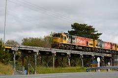 Bahnbrücke bei Paroa, Neuseeland Lizenzfreies Stockfoto
