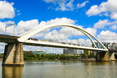 Bahnbrücke, Brisbane-Fluss Lizenzfreies Stockfoto