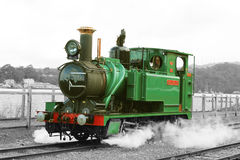 Bahndampf-Maschine Stockfoto