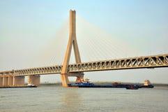 Bahndatenbahnbrücke lizenzfreies stockbild