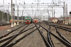 Bahndepot Lizenzfreies Stockfoto