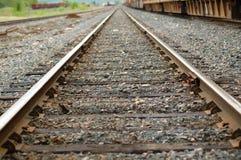 Bahnen in den Abstand stockbild
