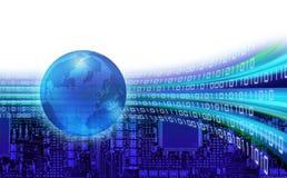 Bahnen der globalen Informationen Stockfoto