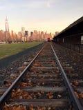 Bahnen in die Stadt Lizenzfreies Stockfoto