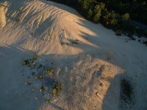 Bahnen im Sand Stockfoto