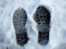 Bahnen im Schnee Lizenzfreies Stockfoto