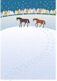 Bahnen im Schnee Lizenzfreies Stockbild