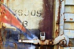 Bahnfracht-Verriegelung Lizenzfreie Stockfotografie