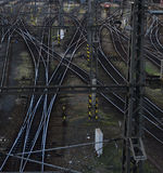 Bahngleis in Prag Stockbild
