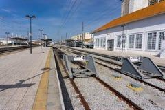 Bahngleise in Faro, Portugal lizenzfreies stockfoto