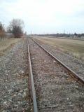 Bahngleise im Frühjahr Lizenzfreie Stockfotos
