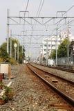 Bahngleise in Kyoto lizenzfreie stockfotografie