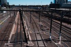 Bahngleise meiner Gedächtnisse stockfoto