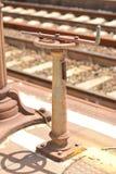 Bahngleishebel lizenzfreies stockbild