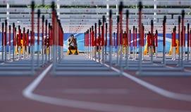 Bahnhürden-Mannanfang Kanada Lizenzfreie Stockfotografie