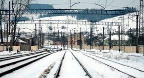 Bahnhof Lizenzfreie Stockfotos