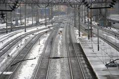Bahnhof. Stockfoto