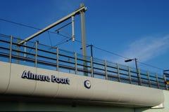 Bahnhof Almere Poort - die Niederlande Lizenzfreies Stockfoto