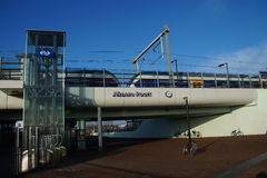 Bahnhof Almere Poort - die Niederlande Lizenzfreie Stockfotografie