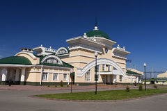 Bahnhof Altai in Novoaltaisk Stockfotos