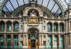 Bahnhof in Antwerpen Belgien Lizenzfreie Stockfotos