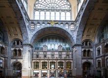 Bahnhof in Antwerpen Belgien Lizenzfreies Stockbild