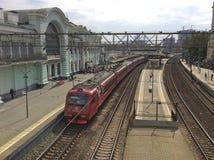 Bahnhof Belorusskiy in Moskau Lizenzfreies Stockbild