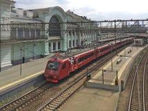 Bahnhof Belorusskiy in Moskau Stockfoto