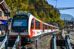 Bahnhof in Brienz, die Schweiz stockbilder