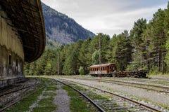 Bahnhof Canfrancs, Huesca, Spanien Stockbild