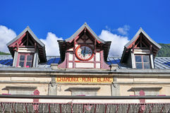 Bahnhof Chamonix Mont Blancs Stockbilder