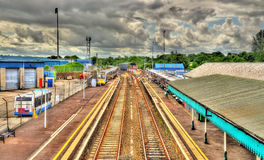 Bahnhof Coleraine - Grafschaft Londonderry Stockfotografie