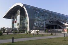 Bahnhof in der Erholungsortregelung von Adler, Sochi Stockfoto