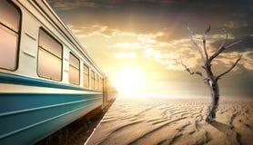 Bahnhof in der Wüste stockfoto