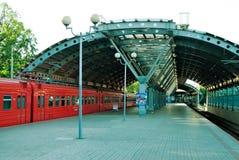 Bahnhof in Domodedovo-Flughafen Lizenzfreies Stockbild