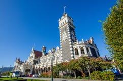 Bahnhof Dunedins, der in Südinsel von Neuseeland sich befindet Stockbild