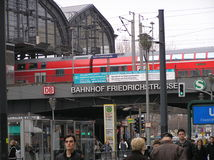 Bahnhof Friedrichstrasse in Berlin Stock Images