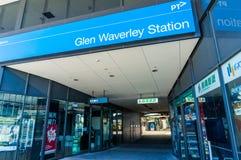 Bahnhof Glen Waverleys in Melbourne, Australien stockbilder