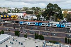 Bahnhof Glen Waverleys in Melbourne, Australien lizenzfreie stockbilder