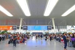 Bahnhof Hangzhous, Porzellan Lizenzfreies Stockfoto