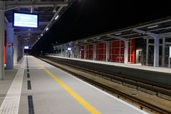 Bahnhof im Flughafen von Gdansk Lizenzfreies Stockbild