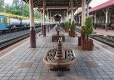 Bahnhof Khonkaen-Zugs Stockfotos