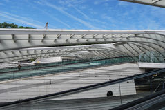 Bahnhof Liège-Guillemins, Belgien Lizenzfreie Stockfotografie