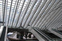 Bahnhof Liège-Guillemins, Belgien Stockbild
