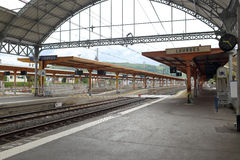 Bahnhof in Lourdes stockfoto