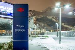 Bahnhof in neuer Straße Birminghams, Vereinigtes Königreich stockbild