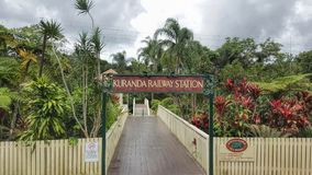 Bahnhof Nord-Queensland Australien Kuranda lizenzfreie stockfotos