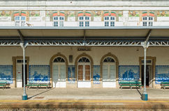 Bahnhof Porto Portugal Granja Stockfotos