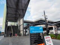 Bahnhof Ringwood in der Stadt von Maroondah in den Ostvororten von Melbourne stockbilder