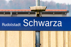 Bahnhof Rudolstadt Schwarza Stockfotos